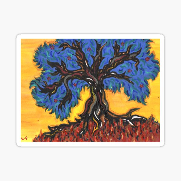 Gnarled Tree  Sticker
