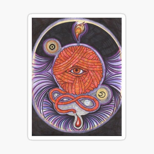 KNITCROMANCY: Unraveling the Cosmic Yarn Sticker