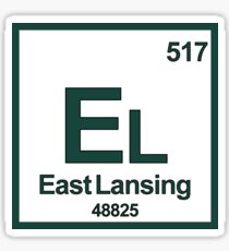 east lansing michigan periodic table zip code university area code sticker