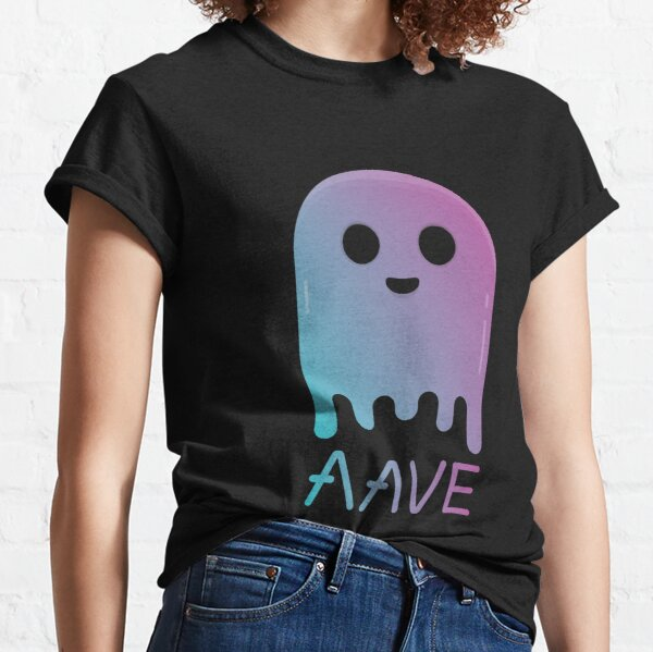 AAVE Ghost Cryptocurrency Blockchain Crypto Coin Token Classic T-Shirt