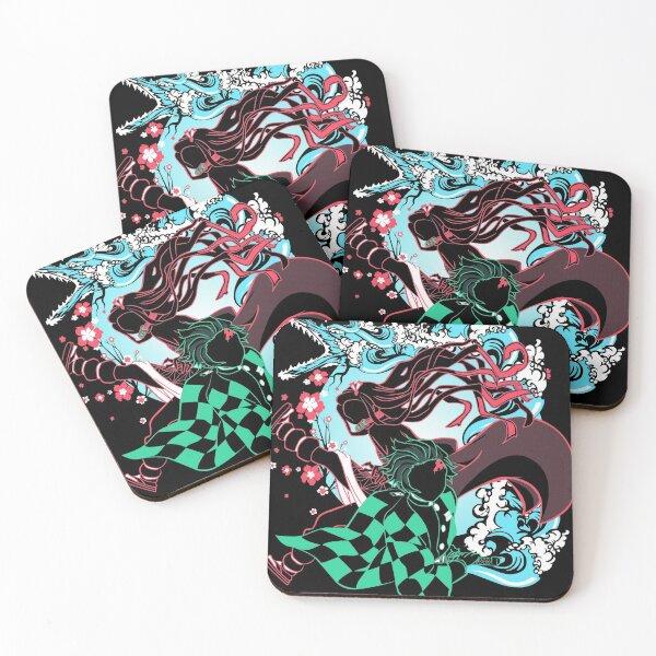 Demon Slayer Siblings Coasters (Set of 4)