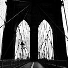 Brooklyn Bridge New York Black & White Silhouette by Lee Whitmarsh