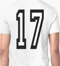 17, TEAM SPORTS, NUMBER 17, SEVENTEEN, SEVENTEENTH, ONE, SEVEN, Competition,  T-Shirt