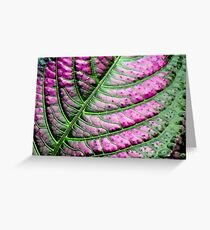 Iridescent Colorful Leaf Greeting Card
