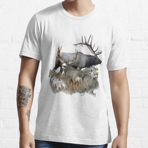 Bull elk and mule deer buck Essential T-Shirt
