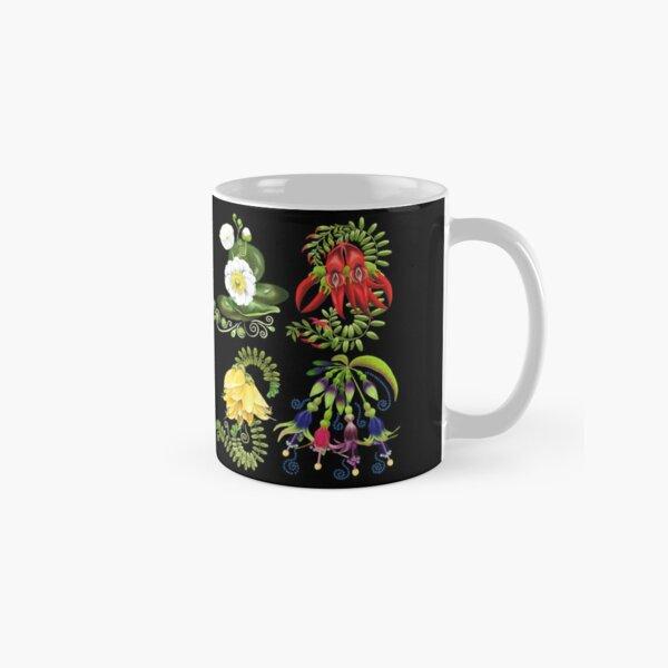 FLORAL ~ Folkart New Zealand Flowers for Zipped Hoodies by tasmanianartist 07012021 Classic Mug