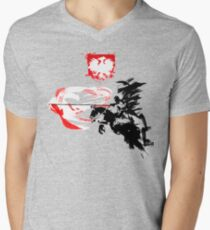 Polish Hussar Mens V-Neck T-Shirt
