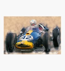 Historic Car Racing Photographic Print