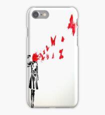 Banksy Butterfly iPhone Case/Skin