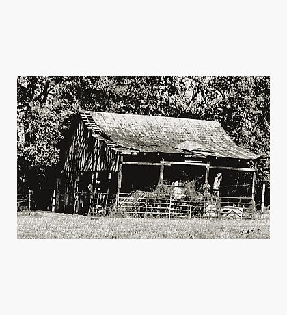 """""""Old Timer's Barn (B&W)""""... prints and products Photographic Print"""