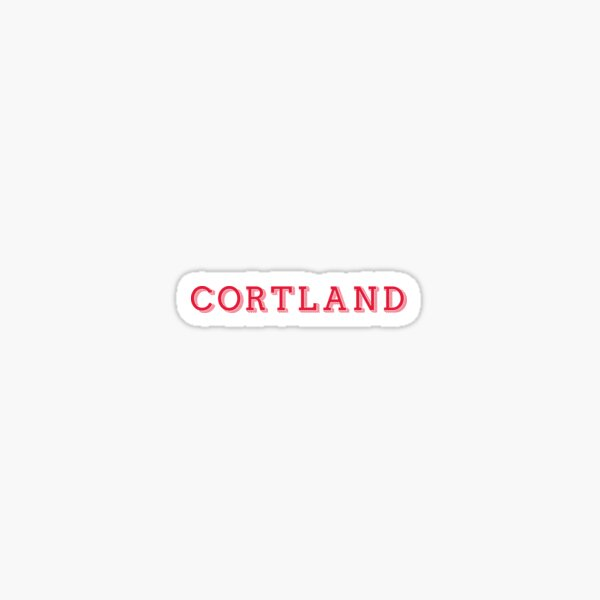 Cortland - DECORATIVE Sticker