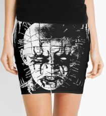 Black Metal Pinhead Mini Skirt