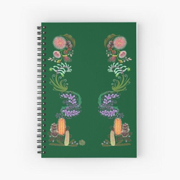 FLORAL ~ Folkart Australian Flowers for Zipped Hoodies by tasmanianartist 07012021 Spiral Notebook