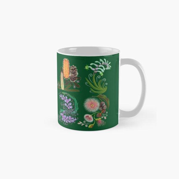 FLORAL ~ Folkart Australian Flowers for Zipped Hoodies by tasmanianartist 07012021 Classic Mug