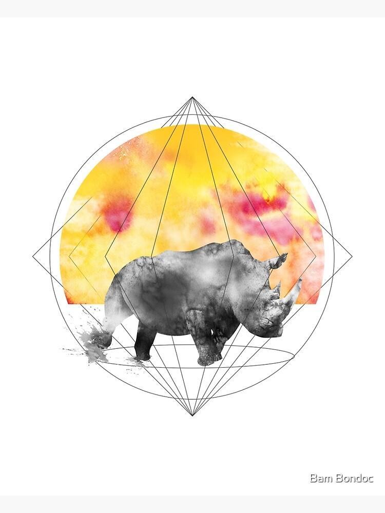sunset rhino by bambondocdesign