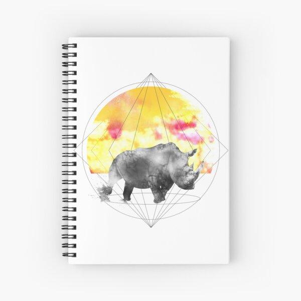 sunset rhino Spiral Notebook