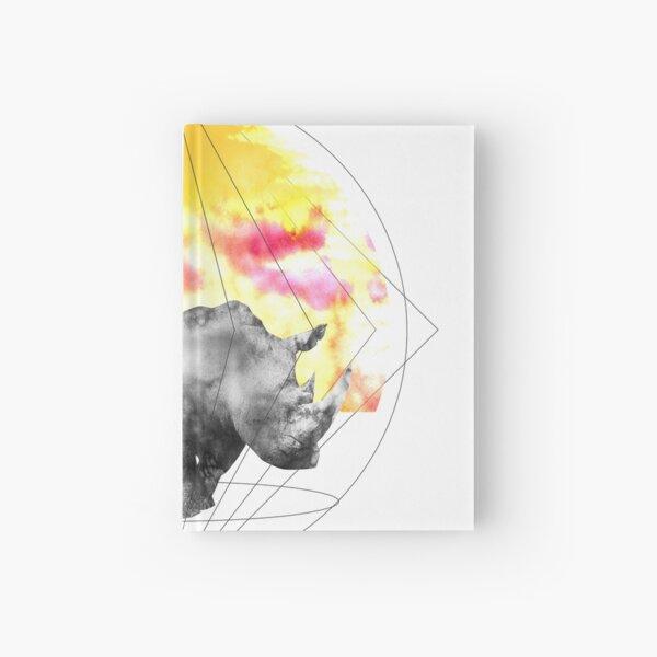 sunset rhino Hardcover Journal