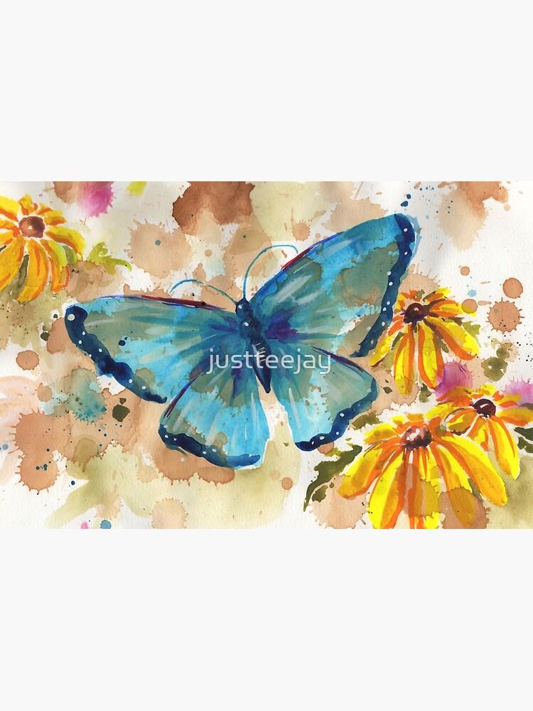 Aquarell-Schmetterling mit BlackEyedSusan von justteejay