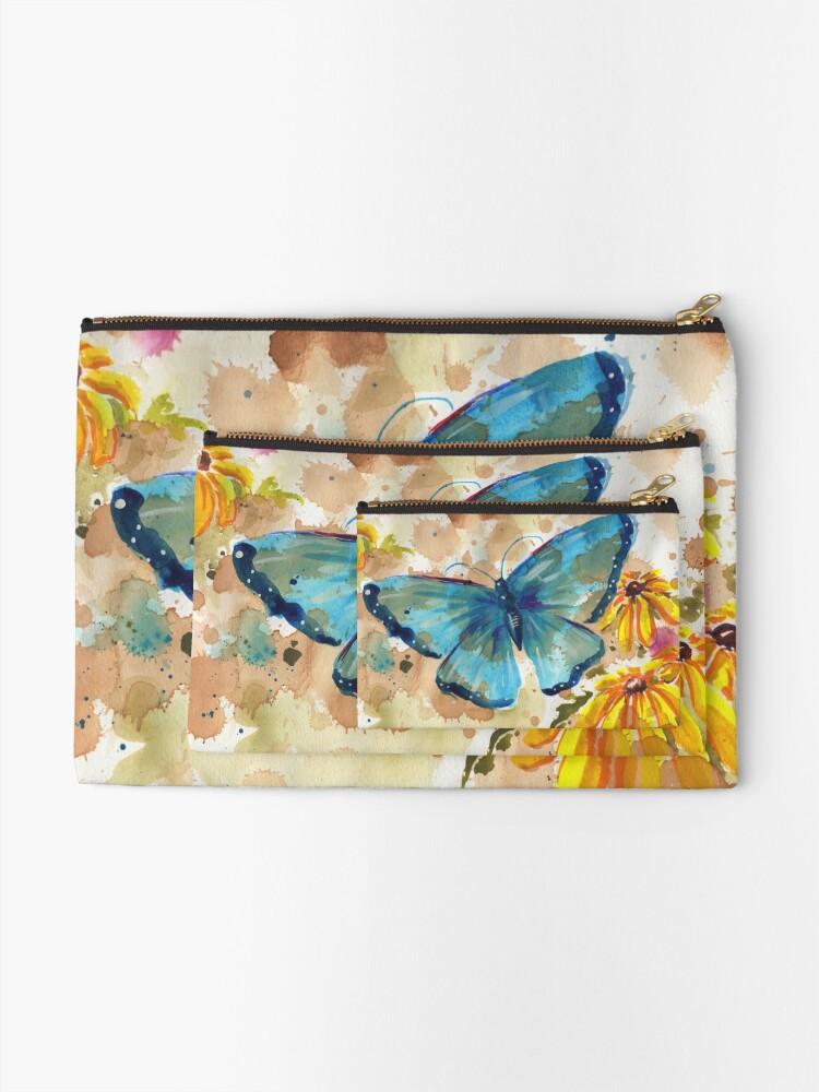 Alternative Ansicht von Aquarell-Schmetterling mit BlackEyedSusan Täschchen