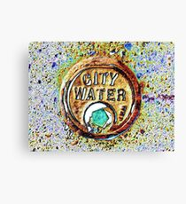 City Water Canvas Print