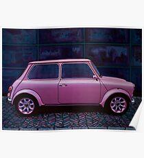 Austin Mini Cooper Painting Poster