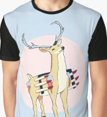 Battle Stag Graphic T-Shirt