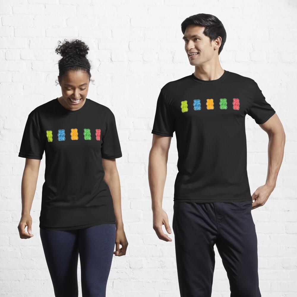 Rainbow Gummy Bears Active T-Shirt