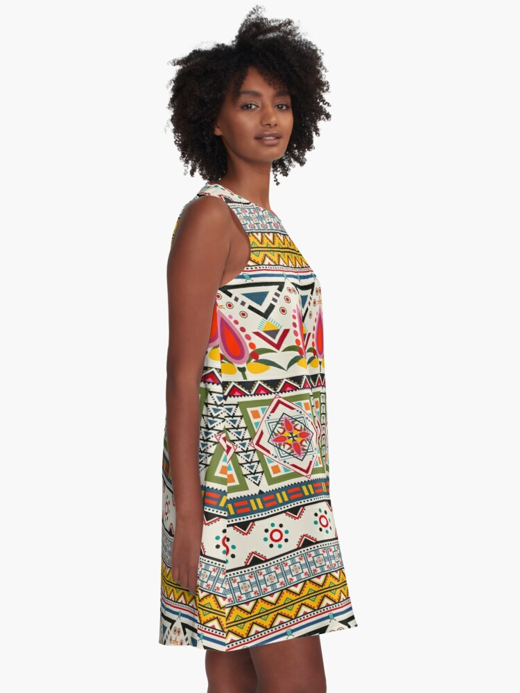 Alternate view of Crazy ethnic pattern A-Line Dress