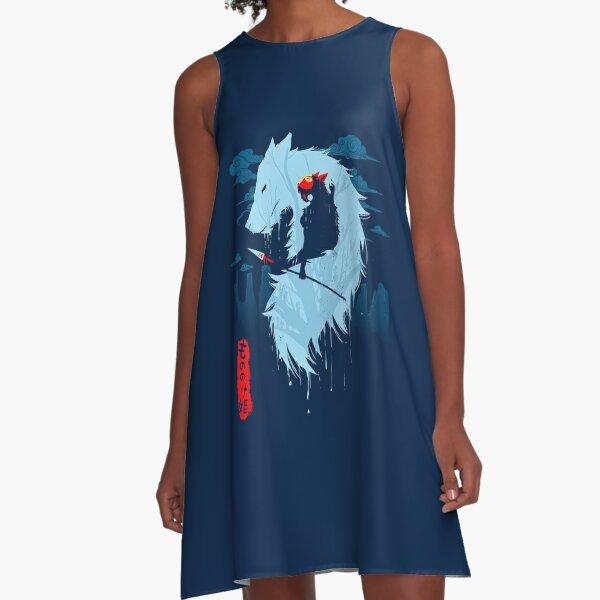 Wolf A-Line Dress