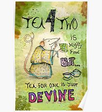 Stu the Sewer Rat and Tea for One  Poster