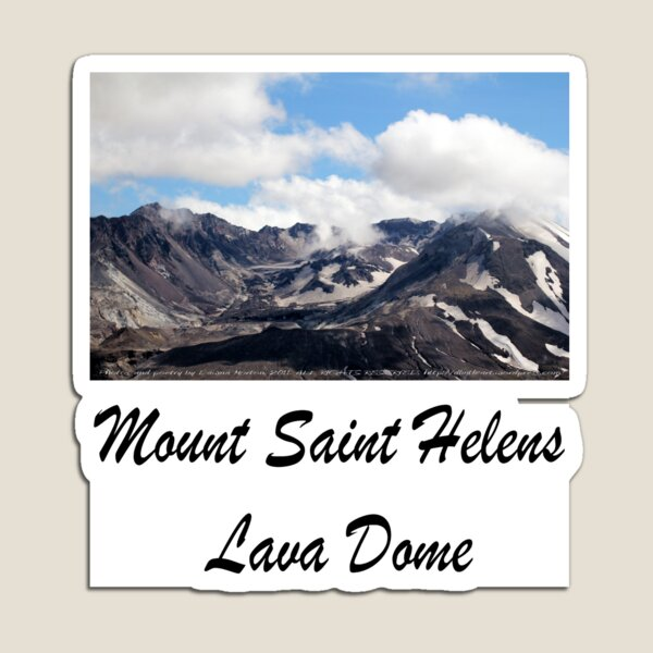 Mount St Helens lava dome 2 Magnet