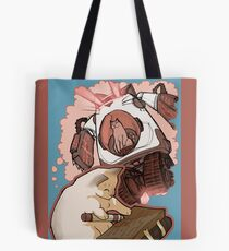 Puddin' Builds A Catbot Tote Bag