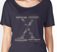 Wisdom of X-Files (Gray) Women's Relaxed Fit T-Shirt