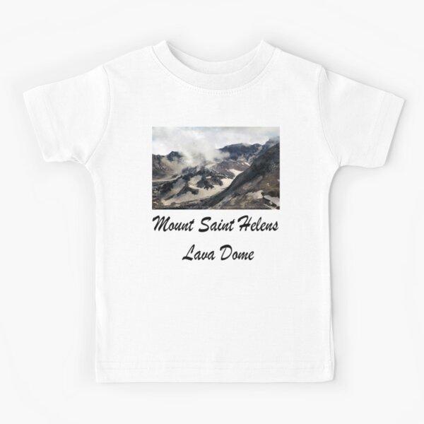 Mount St Helens lava dome closeup Kids T-Shirt