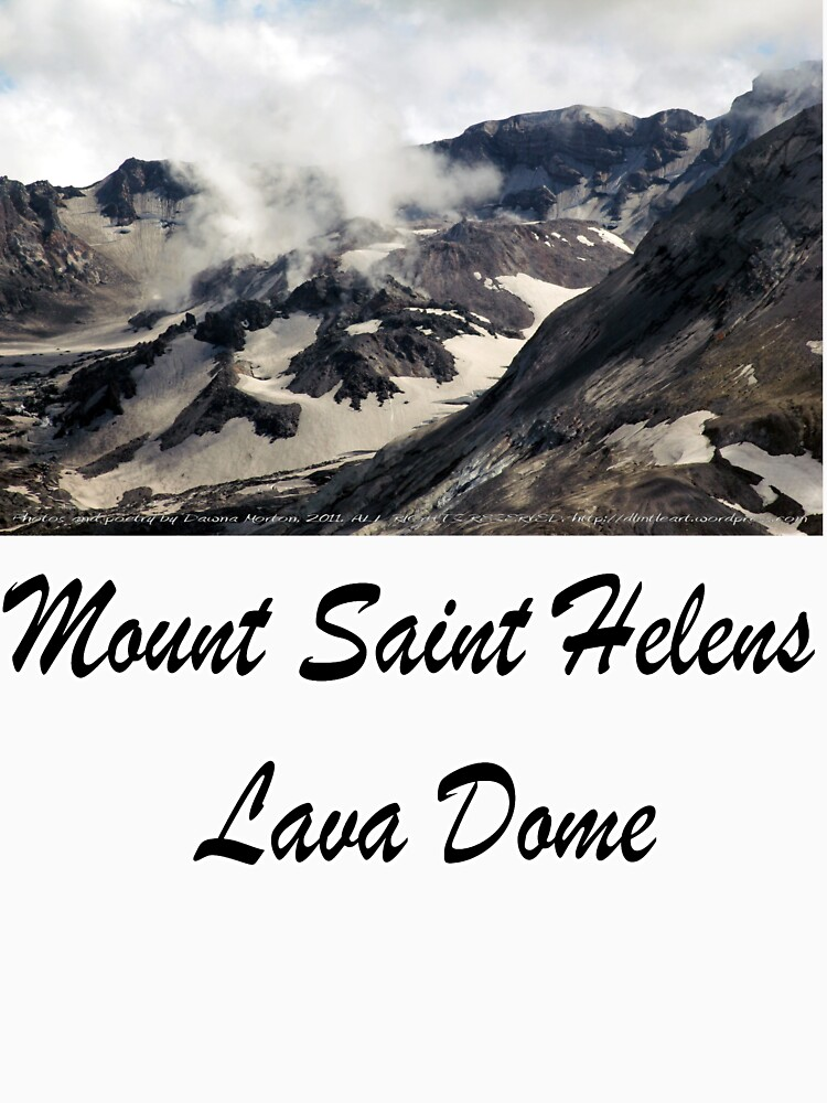 Mount St Helens lava dome closeup by DlmtleArt