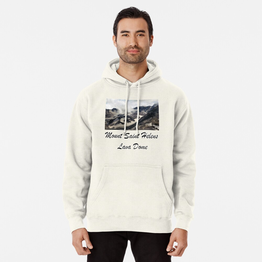 Mount St Helens lava dome closeup Pullover Hoodie