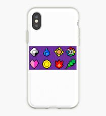 Kanto League Pokemon Master Badges  iPhone Case