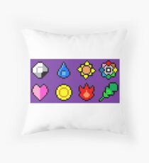 Kanto League Pokemon Master Badges  Throw Pillow