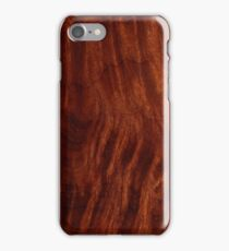 Beautiful Unique mahogany red wood veneer design iPhone Case/Skin