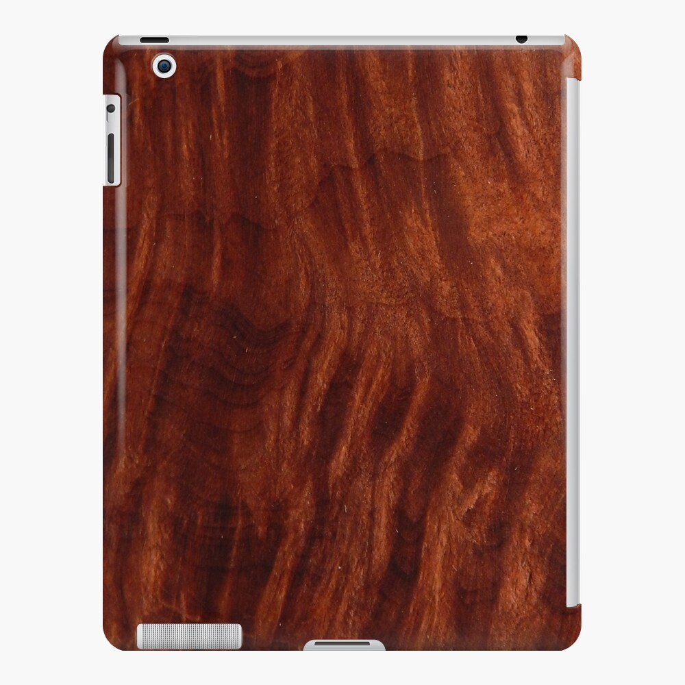 Beautiful Unique Mahogany Red Wood Veneer Design Ipad Case Skin