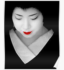Geisha red lip Poster