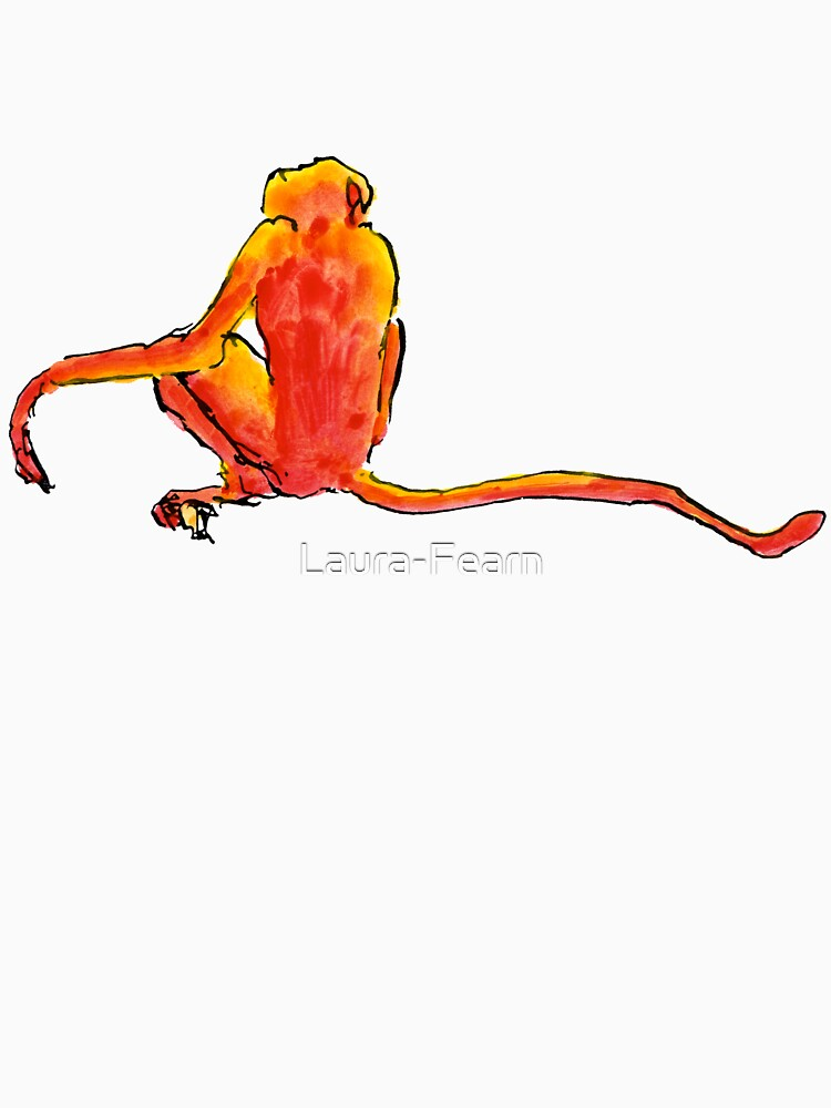 Sitting Red Monkey by Laura-Fearn