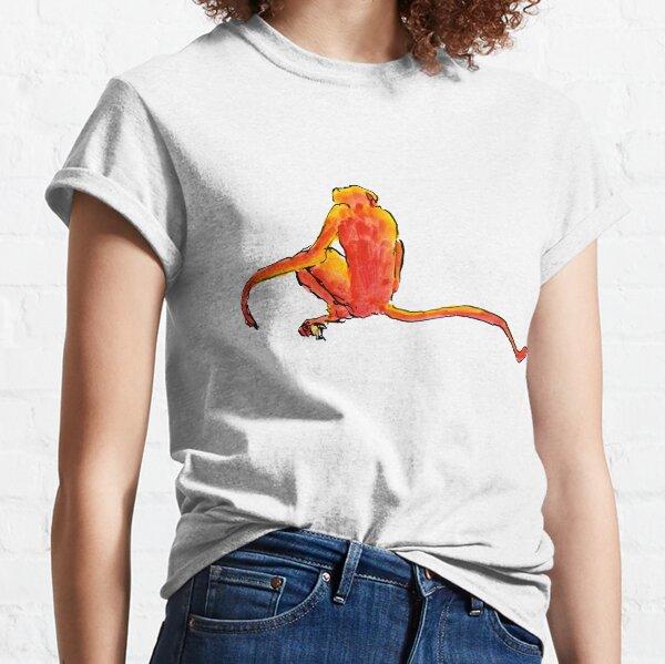 Sitting Red Monkey Classic T-Shirt