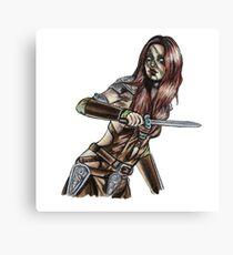 The Elder Scrolls- Skyrim- Aela The Huntress Canvas Print