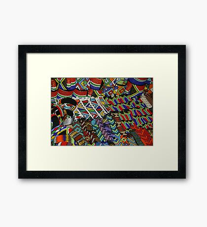 Scenes from an african market Framed Print