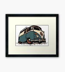 VW Tilted Framed Print