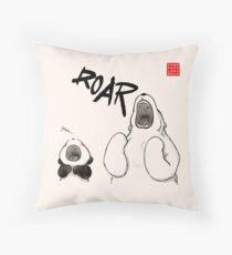 Yawn vs. Roar Throw Pillow