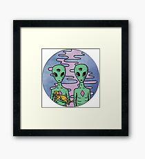 Alien Twins Framed Print