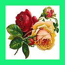 Roses , Throw pillow by Irene  Burdell