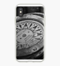 Black and White Compass iPhone Case